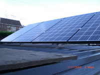 Solar Panels on Corrugated room in Wrexham, North Wales